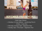 September Yoga Classes